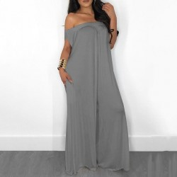 Slash Neck Casual  Oversize Jumpsuit