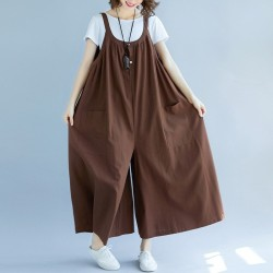 Sleeveless Loose Oversize  Wide Leg