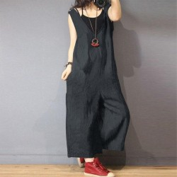 Overalls Casual V Neck Baggy Jumpsuit Plus Size