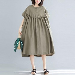 Batwing Sleeve Large  Casual Dress