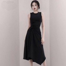 Sleeveless Drawstring Dress