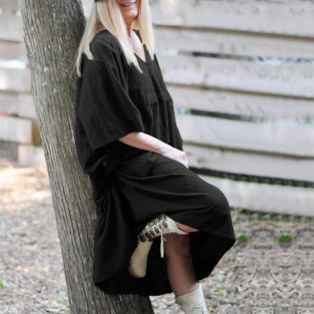 Batwing Sleeve Drawstring  Plus Size Dress