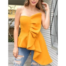 Off Shoulder Backless Sexy Ruffles Blouse
