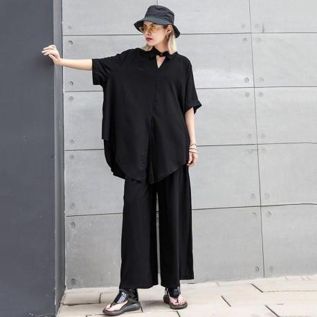 Big Size Oversize Wide Leg  Two Piece Suit