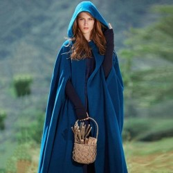 Cloak Hooded  Gothic Cape Maxi Long