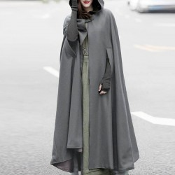 Cloak Loose Long  Hoodies Outwear Plus Size