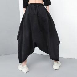 Denim Holes Plus  Size Harem Pants