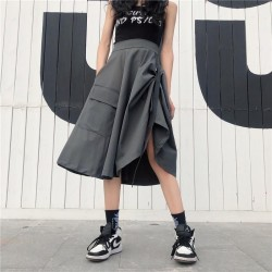 High Waist With Pocket  Skirt