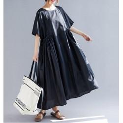 Loose Short Sleeve Long Maxi Dress