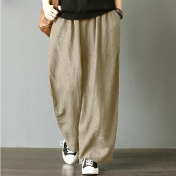 Loose Trouser  Pleated Oversize Pockets Wide Leg Pant