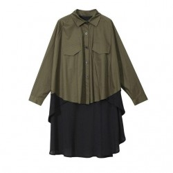 Blouse With Pockets Long Sleeve