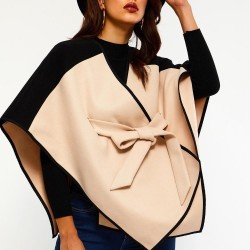 Patchwork poncho  Belted Cloak