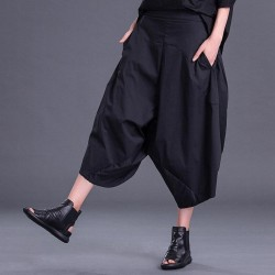 Pocket Leisure Wide Leg  Pants