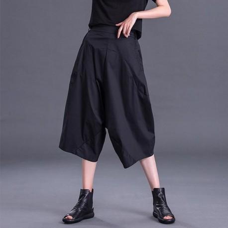 Pocket Leisure Wide Leg  Pants