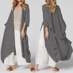 Long  Belted  Loose Beach Cover Up Blouse