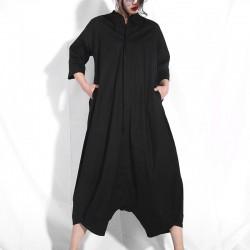 Half Sleeve O-neck Jumpsuit