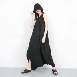 Split Joint Loose Wide Leg Jumpsuit