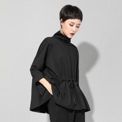 Drawstring Waist Pockets  Long Sleeve