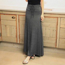 Stretch Modal Cotton Side Split Skirt