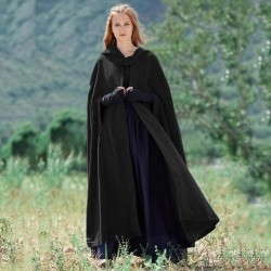 Thick Hoody Floor-Length Long Cape