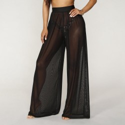 See Through Boho Wide Leg   Pants