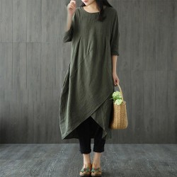 Long Sleeve Casual Oversize Long Dress