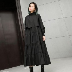 Long Sleeve Oversize Midi Dress