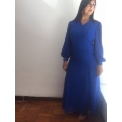 Size M L   blue full lenght dress