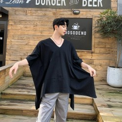 Men Short Sleeve Oversize Irregular T Shirt