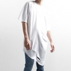 t shirt irregular holes loose wild round