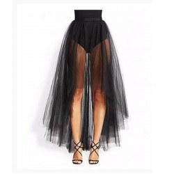 Size M High Low Tulle Skirt Sexy 2 Layers