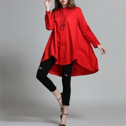 Stand Collar Oversize Swing Dress