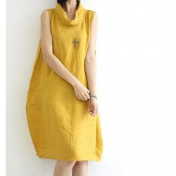 summer Pocket women Knee-length  Dresses