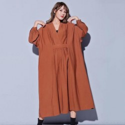 Sleeve Loose Oversize Midi Dress