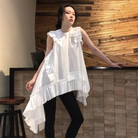 Mini  Assymetrical Sleeveless Summer Dress