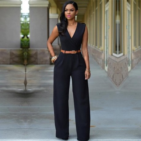 jumpsuit  streetwear  plus size wide leg
